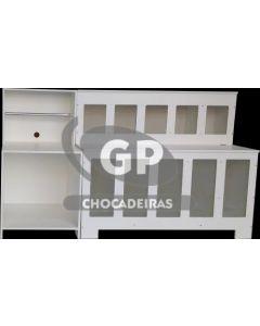 KIT 1 EXPOSITOR DE RAÇÃO RETANGULAR E 1 BALCAO BALANÇA - GP Chocadeiras